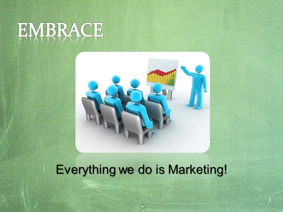 Everything we do is Marketing! 3