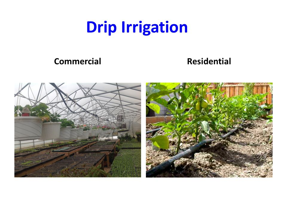 Drip Irrigation CommercialResidential