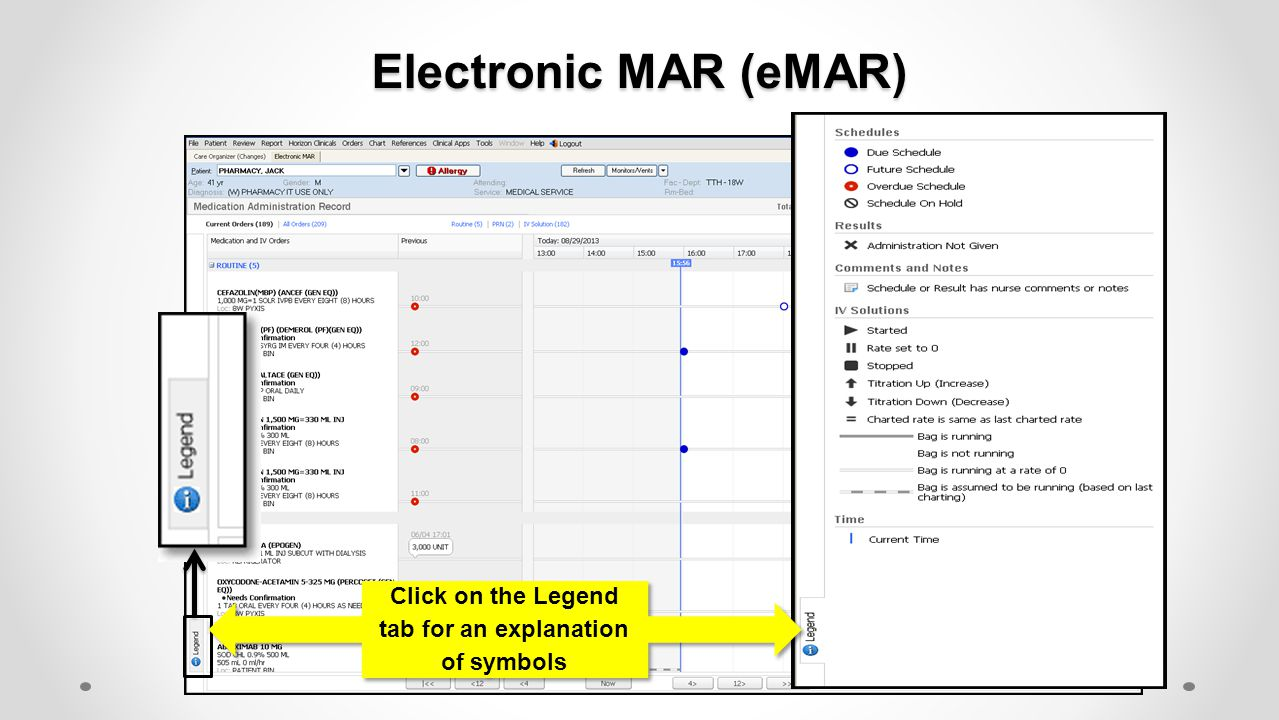 Electronic MAR (eMAR) Defaults to a 12 hr.