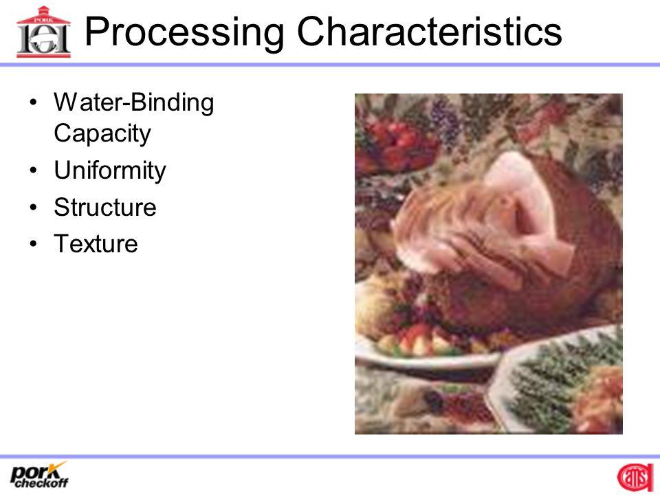 Processing Characteristics Water-Binding Capacity Uniformity Structure Texture