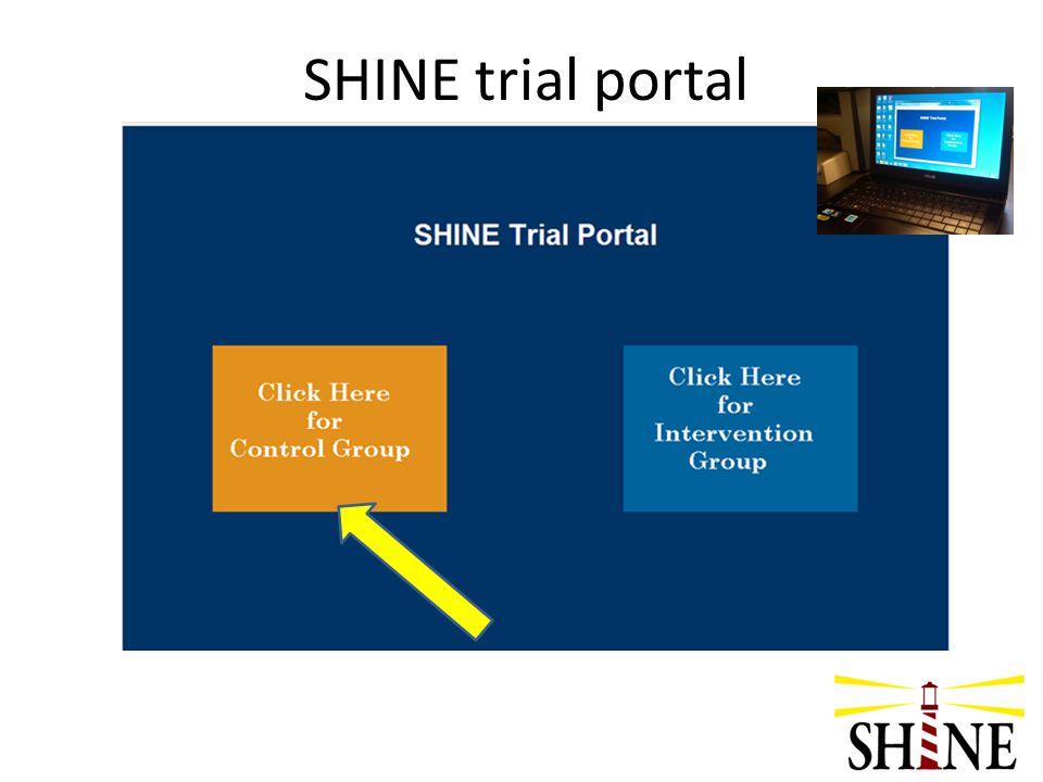 SHINE trial portal