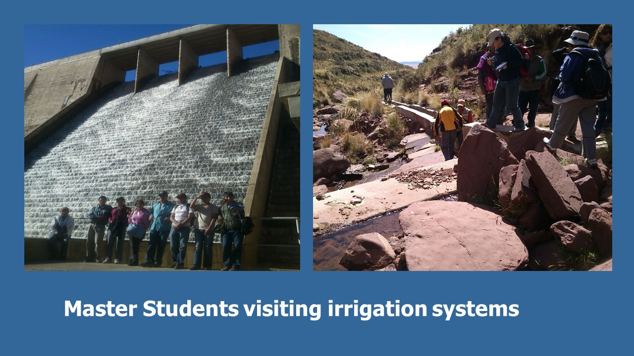 Master Students visiting irrigation systems
