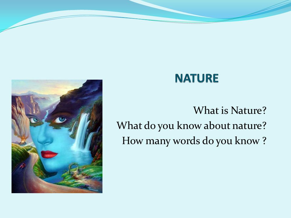 What is Nature? What do you know about nature? How many words do you know ?
