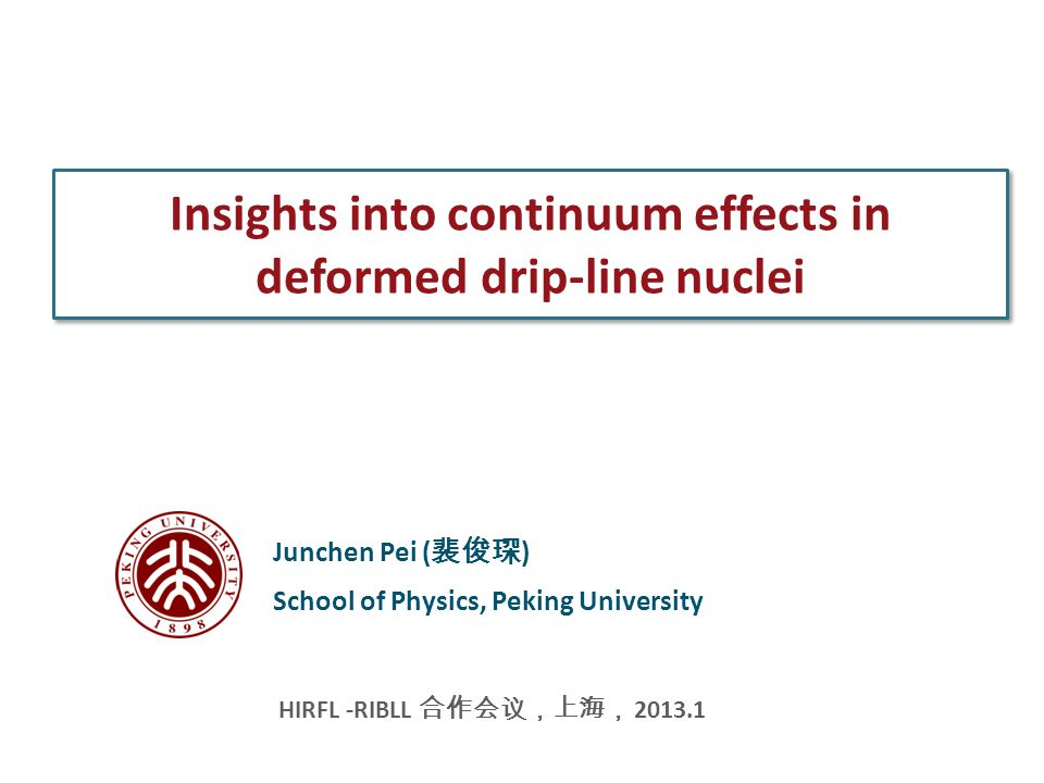 Contents Motivation: physics of weakly bound deformed nuclei Method: deformed coordinate-space HFB approach Results: surface deformations and continuum effects Summary HFB solvers and Continuum effects-------J.C.