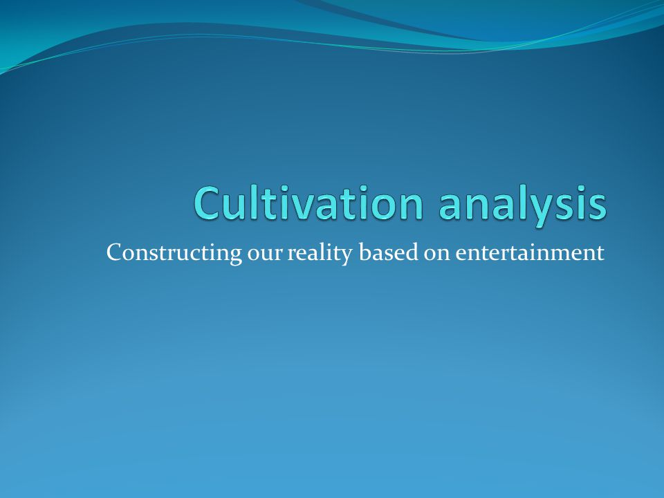 Constructing our reality based on entertainment