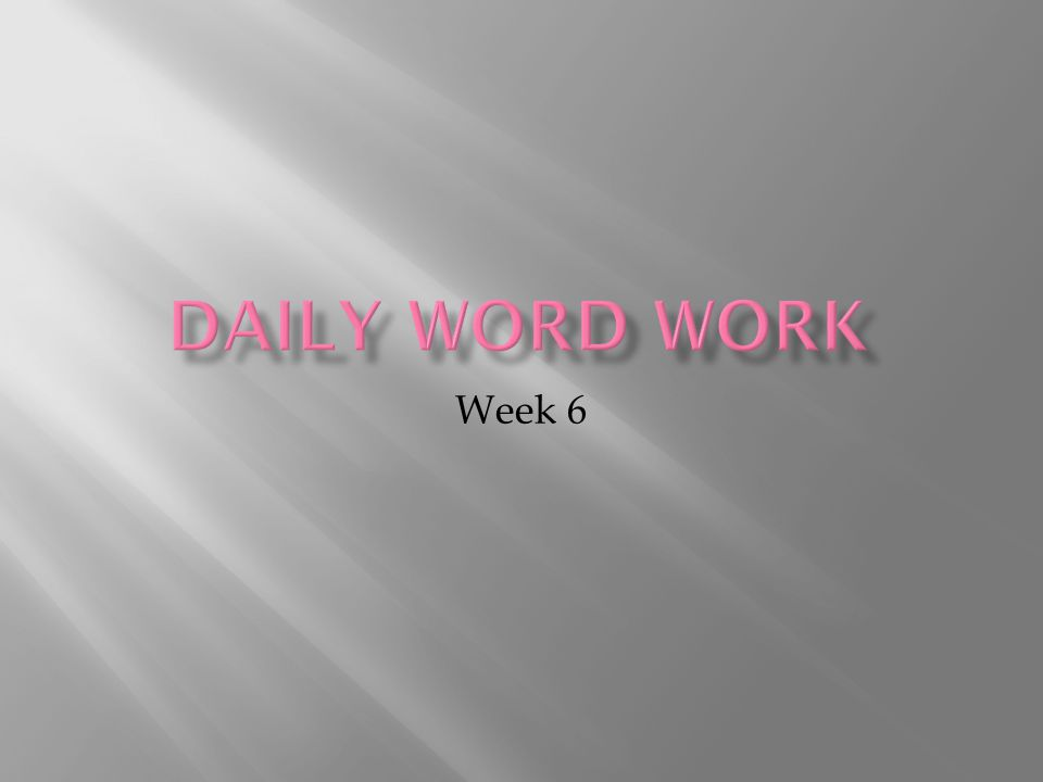 Day 1 – Meet the Word Part Divide and Conquer Day 1