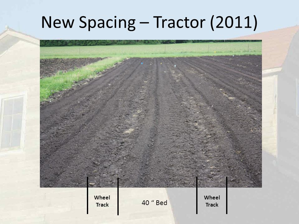 New Spacing – Tractor (2011) 40 Bed Wheel Track