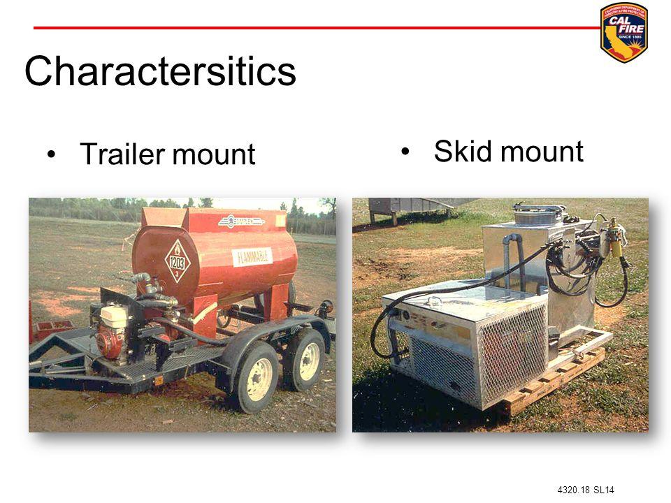 Charactersitics Trailer mount Skid mount 4320.18 SL14