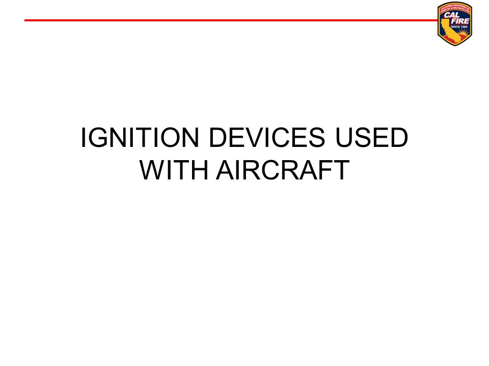 IGNITION DEVICES USED WITH AIRCRAFT