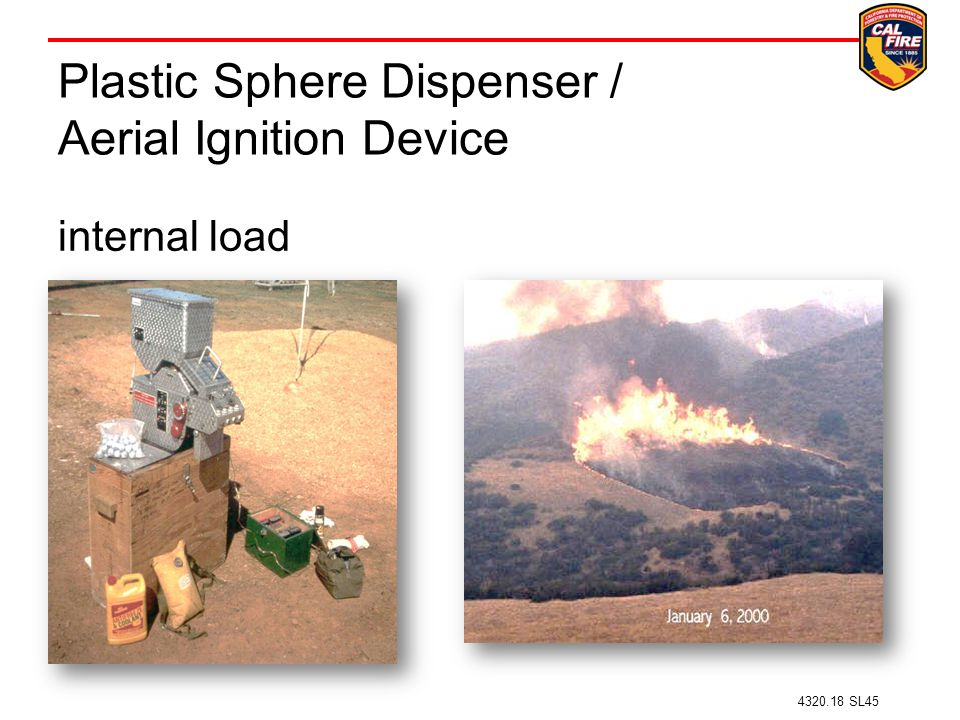 Plastic Sphere Dispenser / Aerial Ignition Device internal load 4320.18 SL45