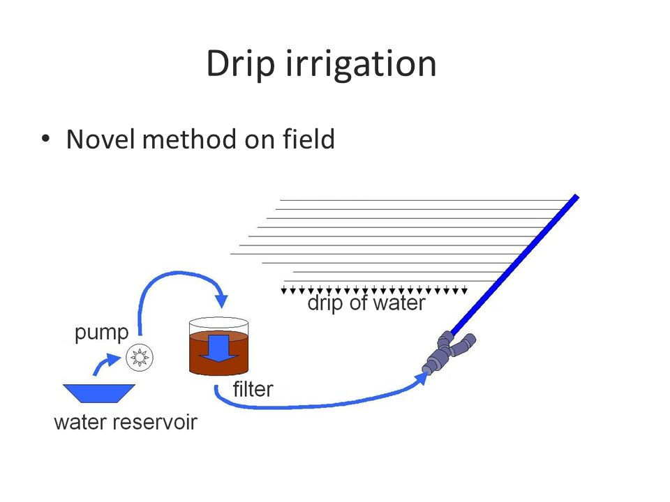Drip irrigation Novel method on field