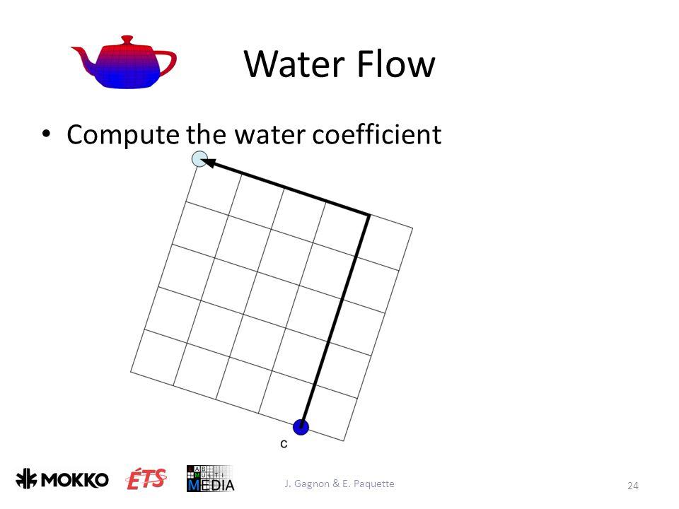 Water Flow Compute the water coefficient J. Gagnon & E. Paquette 24
