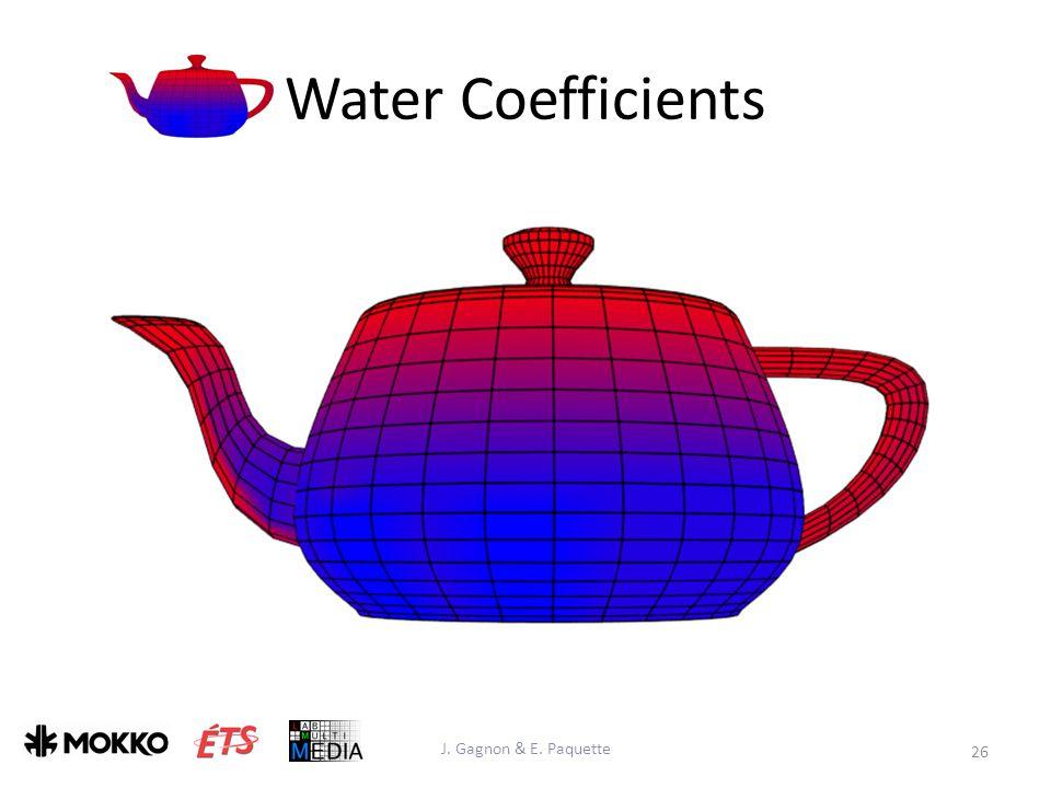 Water Coefficients J. Gagnon & E. Paquette 26