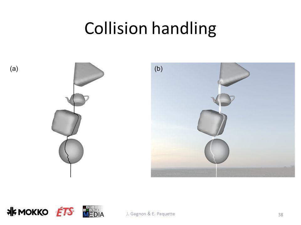 Collision handling J. Gagnon & E. Paquette 38