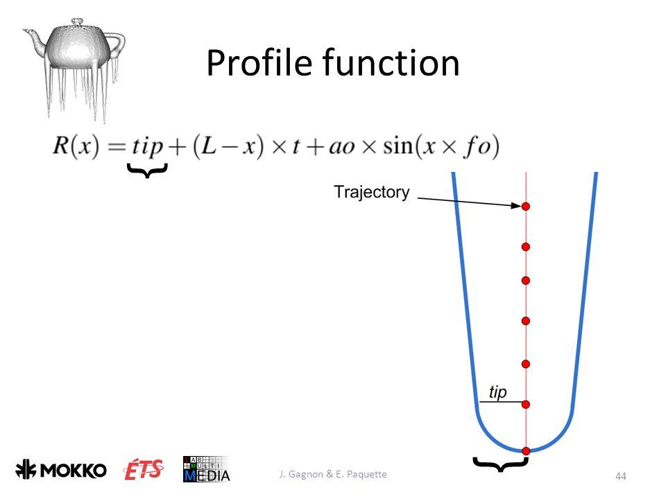 Profile function J. Gagnon & E. Paquette 44