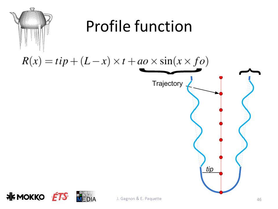 Profile function J. Gagnon & E. Paquette 46