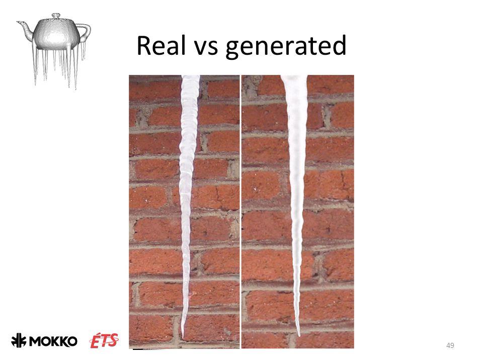 Real vs generated J. Gagnon & E. Paquette 49