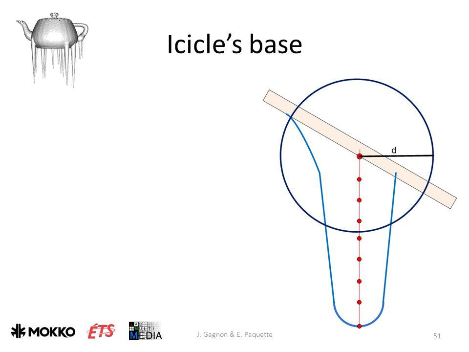 Icicle's base J. Gagnon & E. Paquette 51