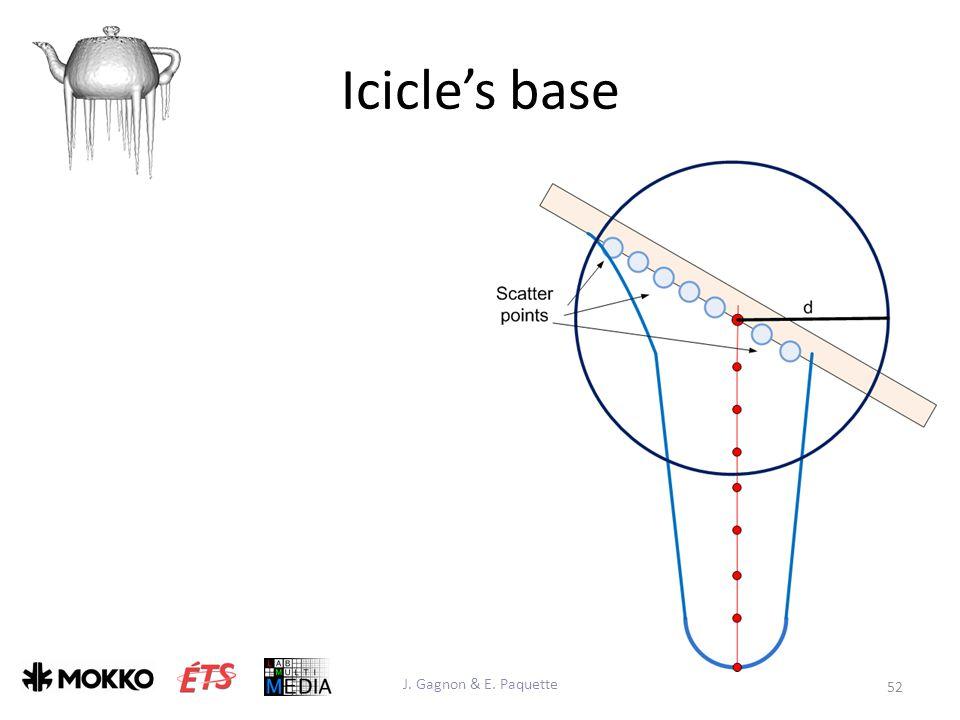 Icicle's base J. Gagnon & E. Paquette 52