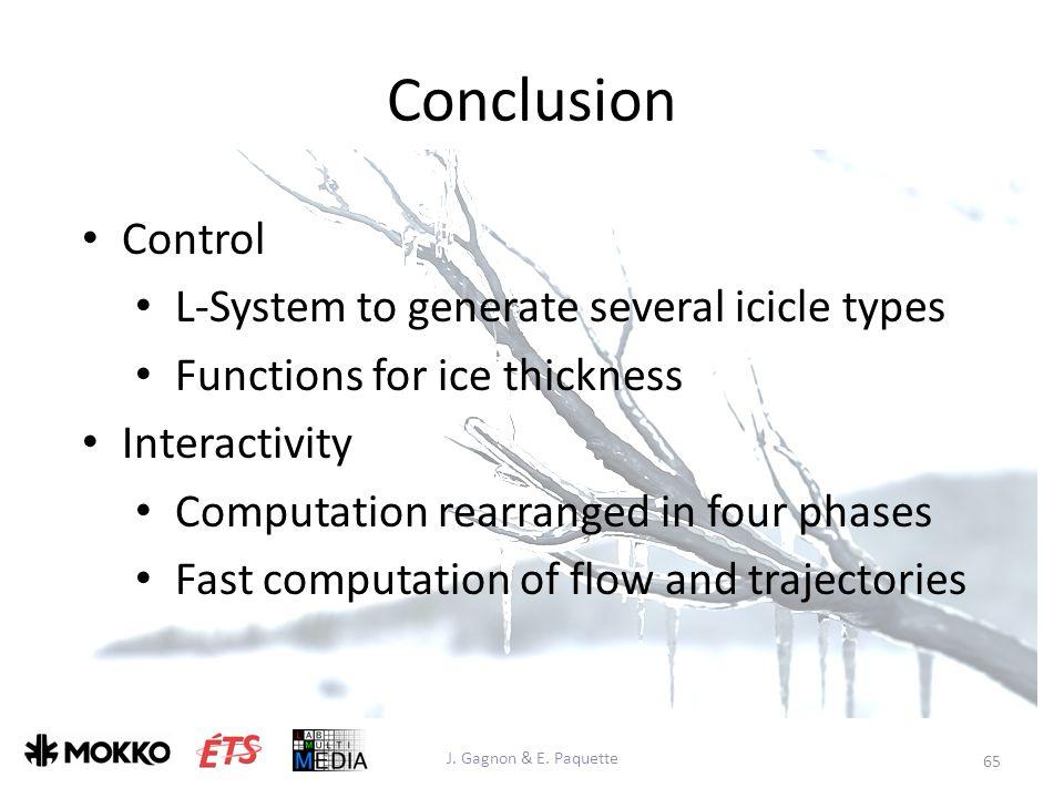 Conclusion J. Gagnon & E.