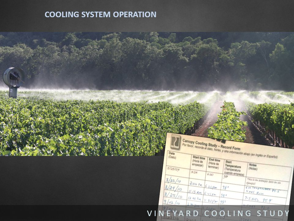 VINEYARD COOLING STUDY COOLING SYSTEM OPERATION