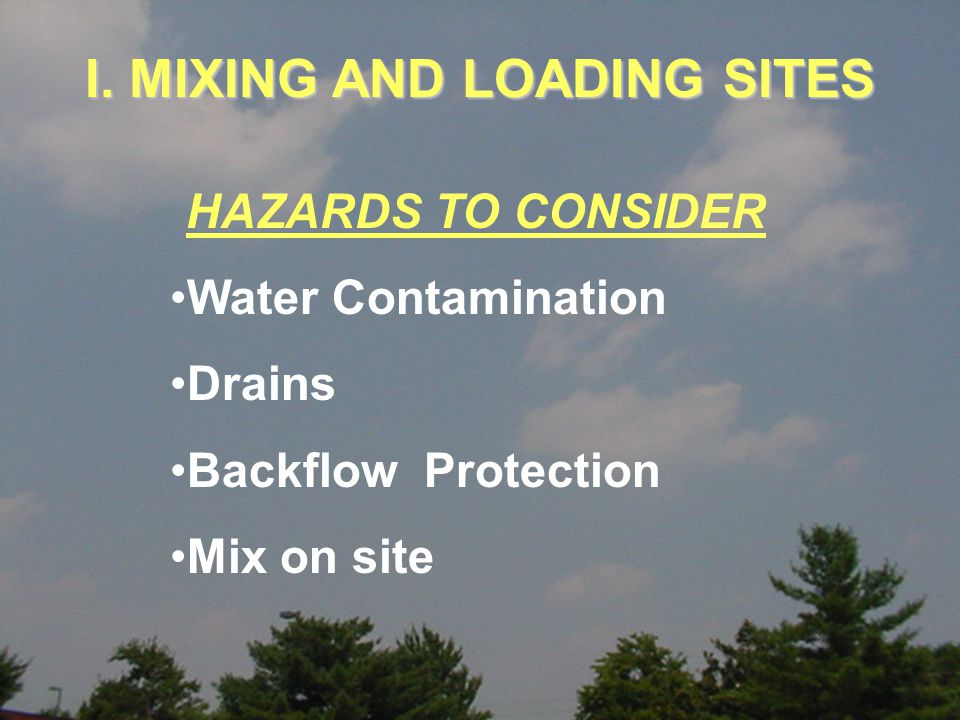 Wells Creeks Ponds Water Sources DO NOT Mix or Load Next To or Above: