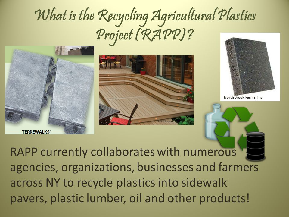 What is the Recycling Agricultural Plastics Project (RAPP).