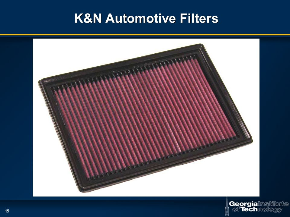 15 K&N Automotive Filters