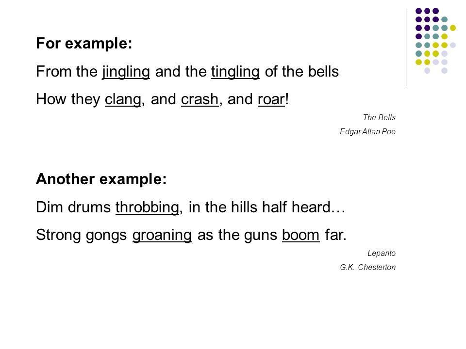 A third example: Rattle-rattle, rattle-rattle, Bing.