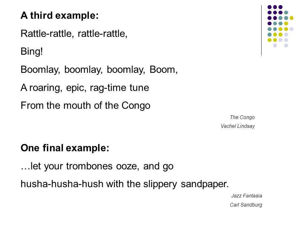 Sample sentences using onomatopoeia - 1.Her taffeta dress rustled to the rhythm of her dancing.