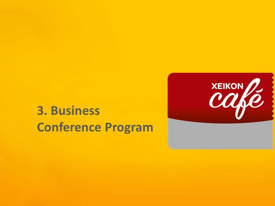 Xeikon Café 3. Business Conference Program