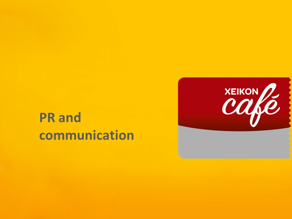 Xeikon Café PR and communication