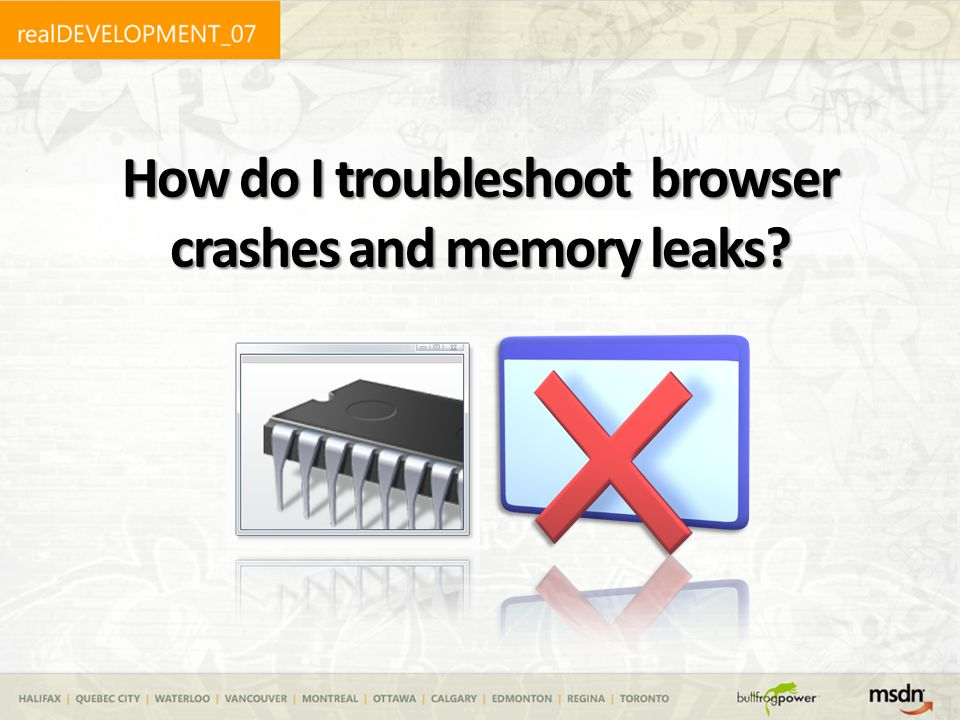 How do I troubleshoot browser crashes and memory leaks?