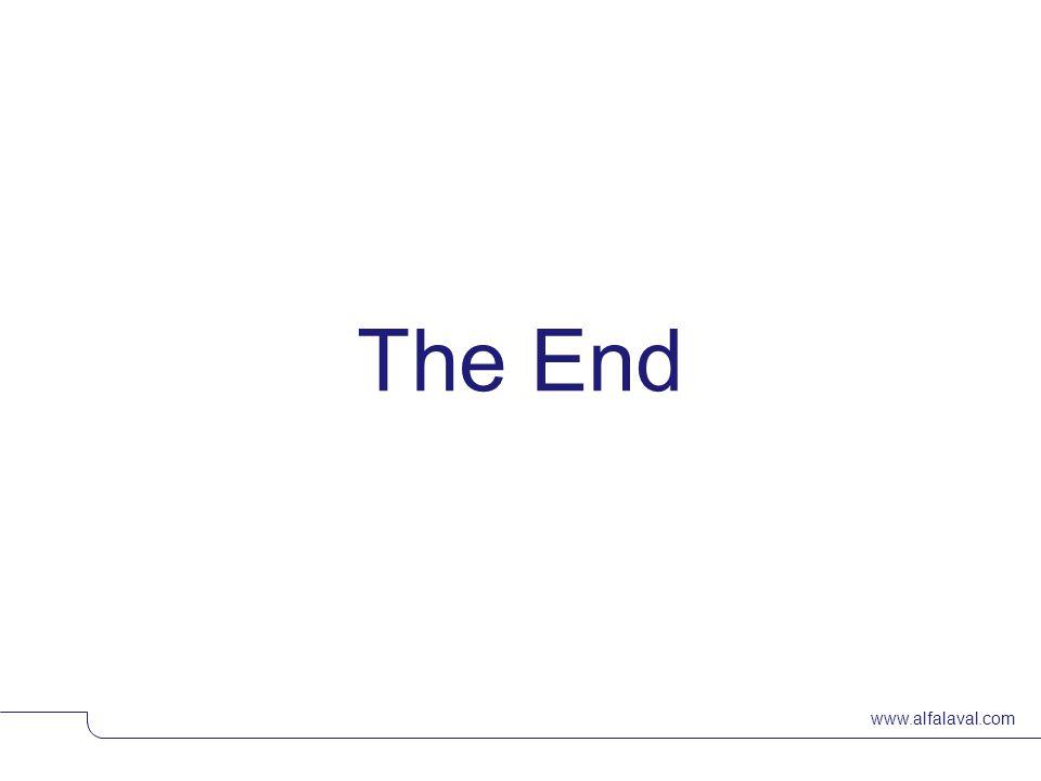 www.alfalaval.com The End © Alfa LavalSlide 42