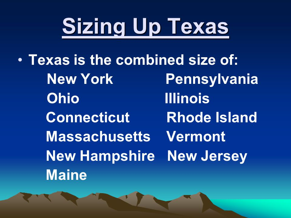 Sizing Up Texas El Paso, Texas is closer to the Pacific Ocean than to Houston.