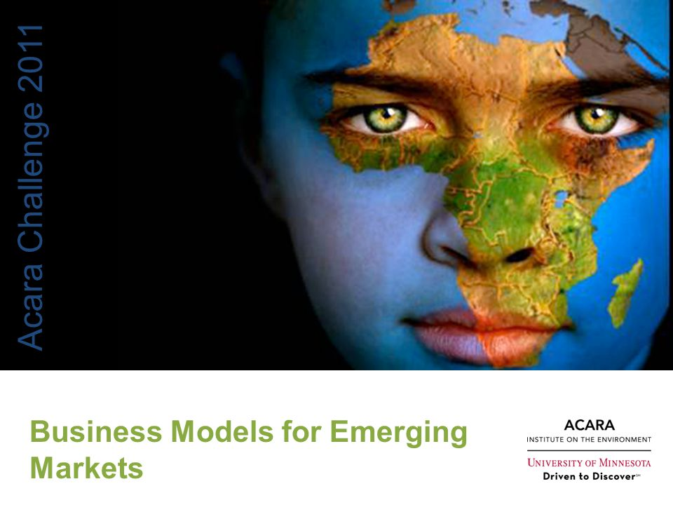 Acara Challenge 2011 Business Models for Emerging Markets