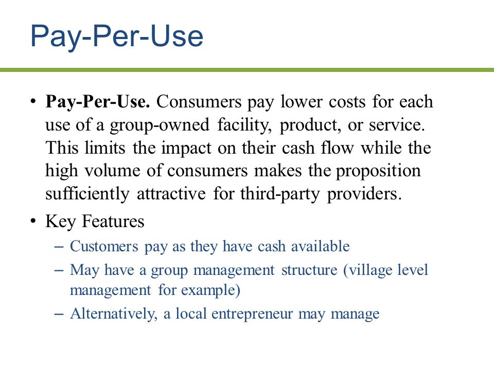 Pay-Per-Use Pay-Per-Use.