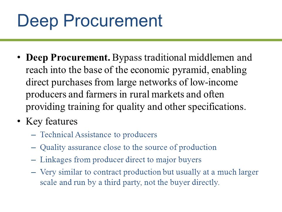 Deep Procurement Deep Procurement.