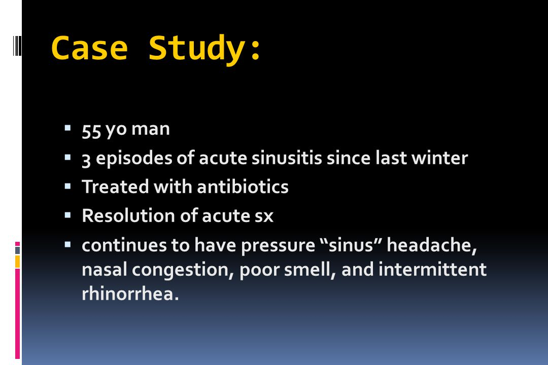 Chronic Rhinosinusitis.l History  Duration  Allergic Symptoms.
