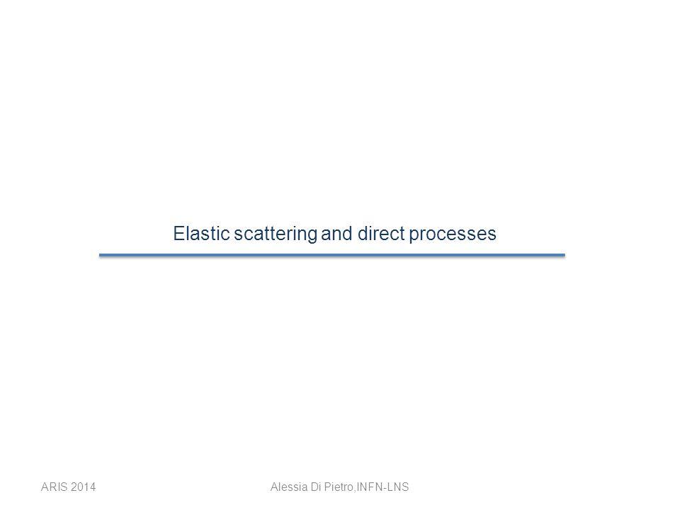 ARIS 2014Alessia Di Pietro,INFN-LNS Optical model Elastic scattering A.D.