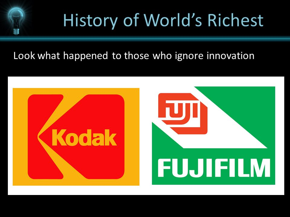 Look what happened to those who ignore innovation
