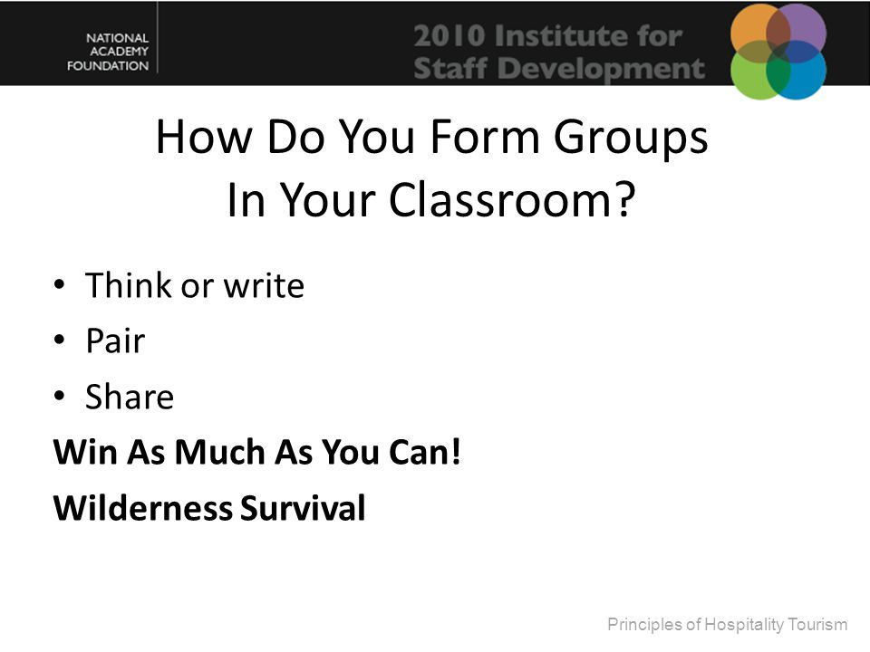 How Do You Form Groups In Your Classroom. Think or write Pair Share Win As Much As You Can.