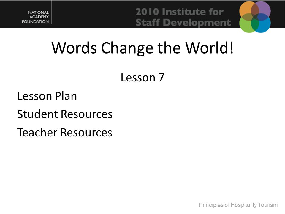Springboard: Words Change the World.