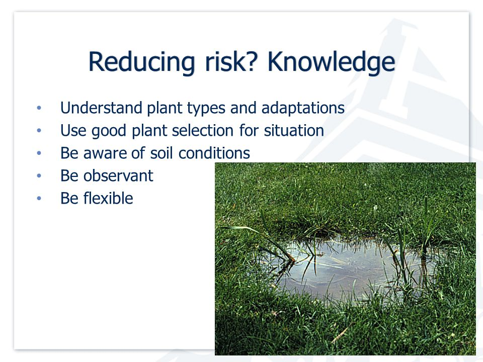 Reducing risk. KnowledgeReducing risk.