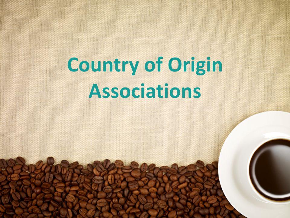 18 Country of Origin Associations