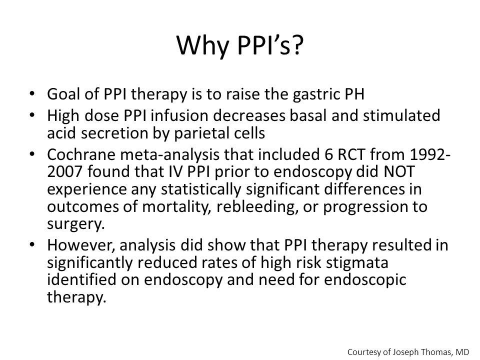 Why PPI's.
