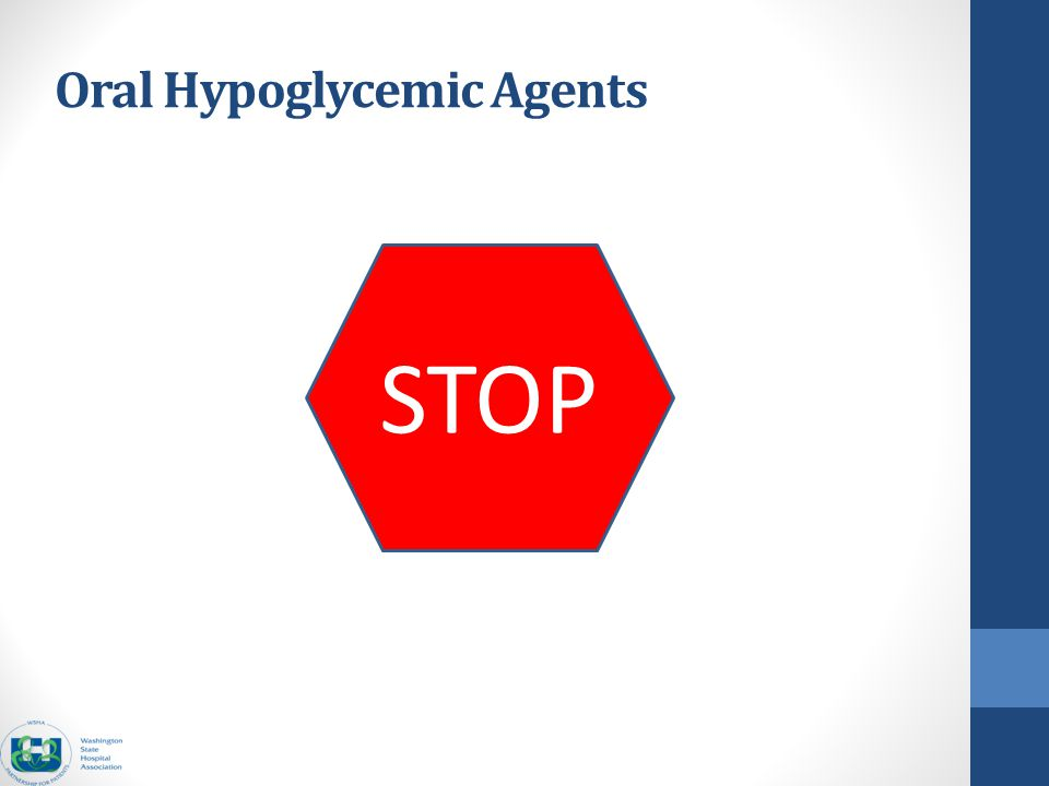 Oral Hypoglycemic Agents STOP