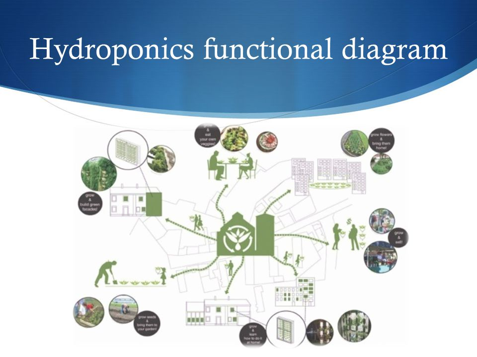 Hydroponics functional diagram
