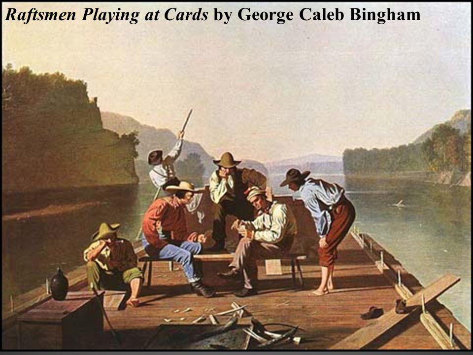 Raftsmen Playing at Cards by George Caleb Bingham