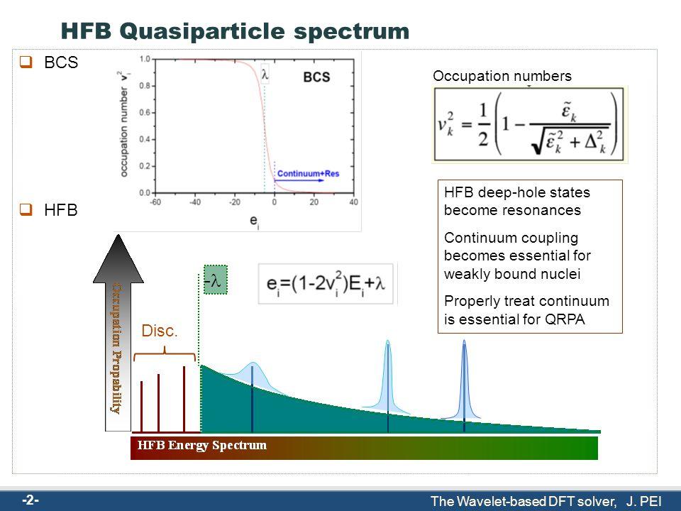 The Wavelet-based DFT solver, J. PEI J. Pei, W. Nazarewicz, A.